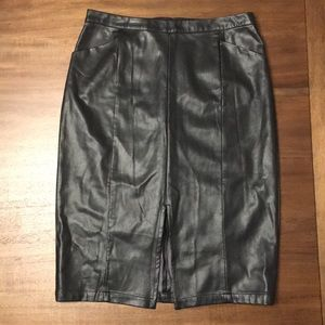 Who What Wear  Women's Faux Leather Skirt.